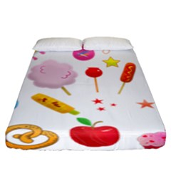 Summer Fair Food Goldfish Fitted Sheet (king Size)