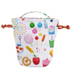 Summer Fair Food Goldfish Drawstring Bucket Bag