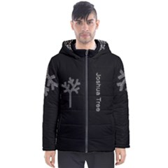 Joshua Tree By Creyes Men s Hooded Puffer Jacket by JoshuaTreeClothingCo