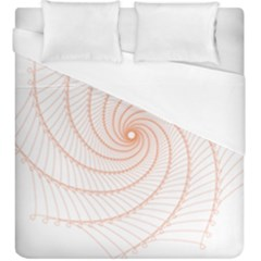 Spirograph Pattern Orange Duvet Cover (king Size)