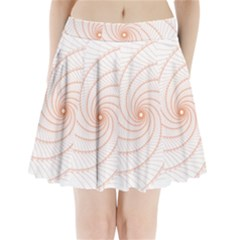 Spirograph Pattern Orange Pleated Mini Skirt by Jojostore