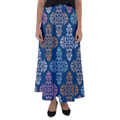 Wallpaper Abstract Art Flared Maxi Skirt