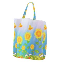Sunflower Collage Summer Flowers Giant Grocery Tote