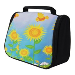 Sunflower Collage Summer Flowers Full Print Travel Pouch (small)