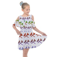 Yard Work Gardening Landscaping Kids  Shoulder Cutout Chiffon Dress by Mariart