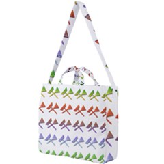 Yard Work Gardening Landscaping Square Shoulder Tote Bag by Mariart