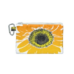 Sunflower Flower Yellow Orange Canvas Cosmetic Bag (small) by Mariart