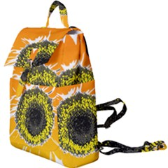 Sunflower Flower Yellow Orange Buckle Everyday Backpack