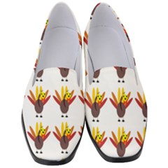 Turkey Thanksgiving Background Women s Classic Loafer Heels