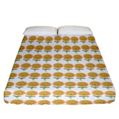 Sunflower Wrap Fitted Sheet (king Size) by Mariart