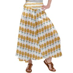 Sunflower Wrap Satin Palazzo Pants by Mariart