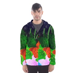 Pattern Fishes Escher Hooded Windbreaker (men)