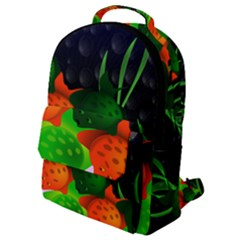 Pattern Fishes Escher Flap Pocket Backpack (small)