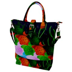 Pattern Fishes Escher Buckle Top Tote Bag