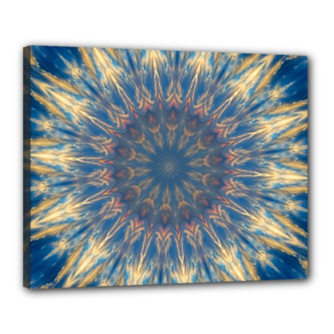 Kaleidoscope Mandala Canvas 20  X 16  (stretched)