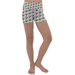 Sweet Dessert Food Cake Pattern Kids  Lightweight Velour Yoga Shorts