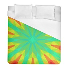 Kaleidoscope Mosaic Ornament Duvet Cover (full/ Double Size) by AnjaniArt