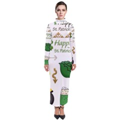 Saint Patricks Day Turtleneck Maxi Dress by AnjaniArt