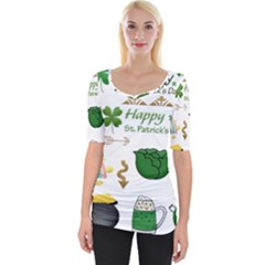 Saint Patricks Day Wide Neckline Tee