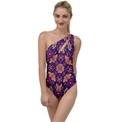 Kaleidoscope Background Design Purple To One Side Swimsuit