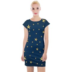 Stars Night Sky Background Space Cap Sleeve Bodycon Dress by Alisyart