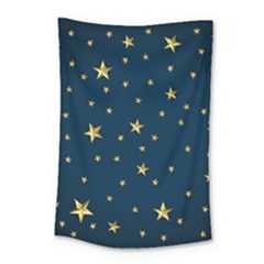 Stars Night Sky Background Space Small Tapestry by Alisyart