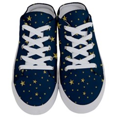 Stars Night Sky Background Space Half Slippers