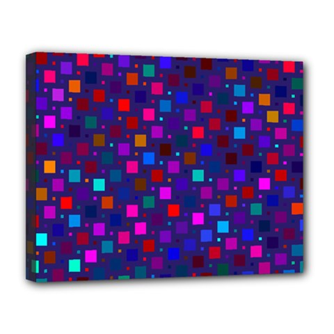 Squares Square Background Abstract Canvas 14  X 11  (stretched)