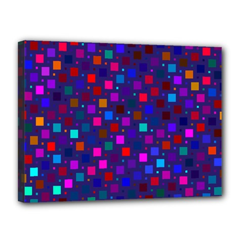 Squares Square Background Abstract Canvas 16  X 12  (stretched)