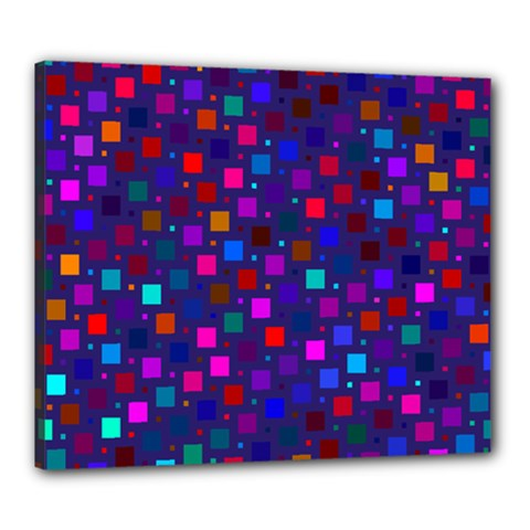 Squares Square Background Abstract Canvas 24  X 20  (stretched)