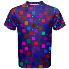 Squares Square Background Abstract Men s Cotton Tee