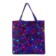 Squares Square Background Abstract Grocery Tote Bag