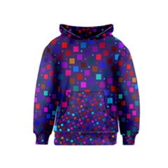 Squares Square Background Abstract Kids  Pullover Hoodie