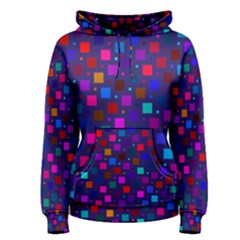 Squares Square Background Abstract Women s Pullover Hoodie