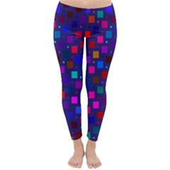Squares Square Background Abstract Classic Winter Leggings
