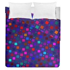 Squares Square Background Abstract Duvet Cover Double Side (queen Size)