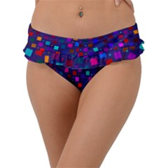 Squares Square Background Abstract Frill Bikini Bottom