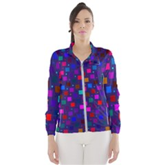Squares Square Background Abstract Windbreaker (women)