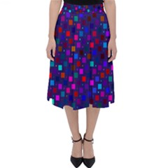 Squares Square Background Abstract Classic Midi Skirt