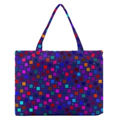 Squares Square Background Abstract Zipper Medium Tote Bag