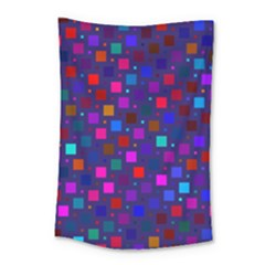 Squares Square Background Abstract Small Tapestry