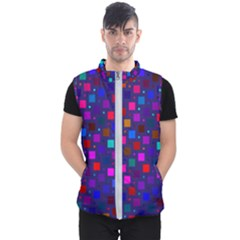 Squares Square Background Abstract Men s Puffer Vest