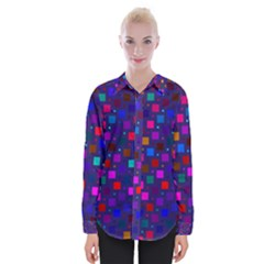 Squares Square Background Abstract Womens Long Sleeve Shirt