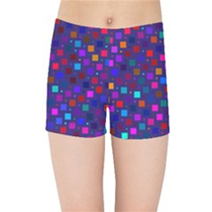 Squares Square Background Abstract Kids  Sports Shorts