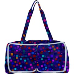 Squares Square Background Abstract Multi Function Bag