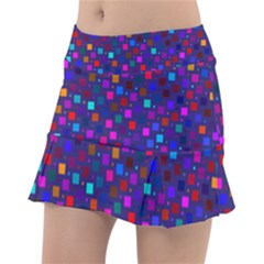 Squares Square Background Abstract Tennis Skirt