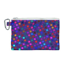 Squares Square Background Abstract Canvas Cosmetic Bag (medium)