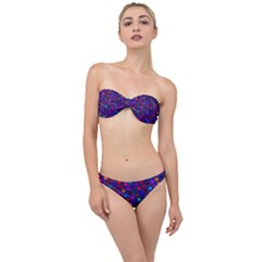Squares Square Background Abstract Classic Bandeau Bikini Set