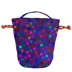 Squares Square Background Abstract Drawstring Bucket Bag