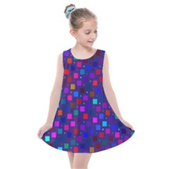 Squares Square Background Abstract Kids  Summer Dress by Alisyart